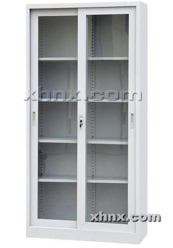 文件柜网提供生产通体玻璃移门柜厂家