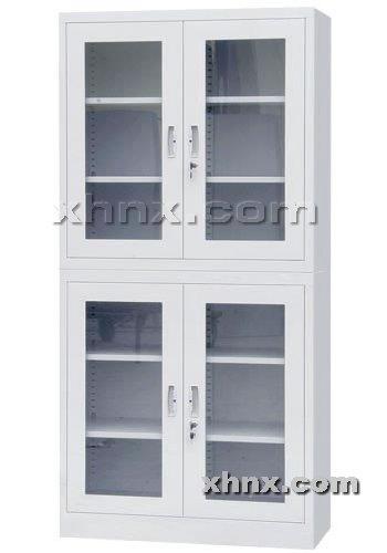 文件柜网提供生产上下玻璃平开门柜厂家