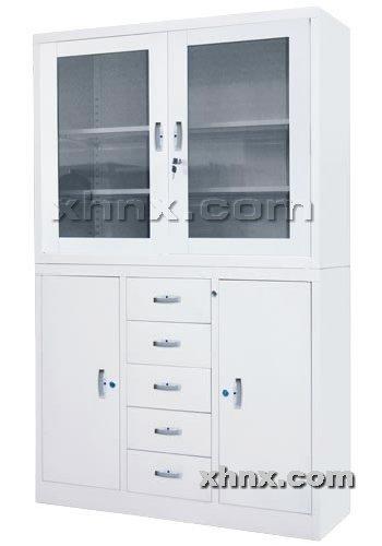 文件柜网提供生产中二屉平开门柜厂家