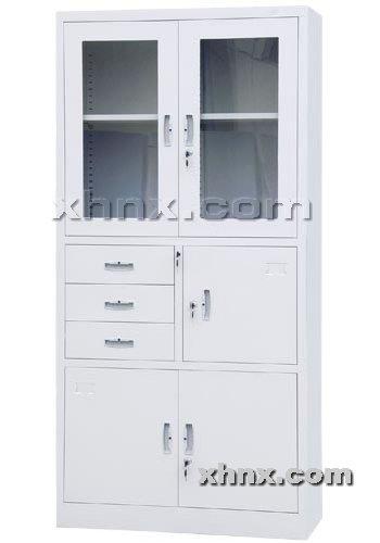 文件柜网提供生产偏三屉开门柜厂家