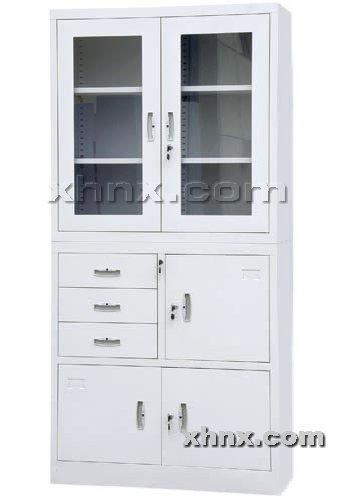 文件柜网提供生产偏三屉平开门柜厂家