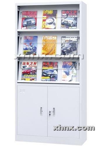 文件柜网提供生产三层期刊架厂家
