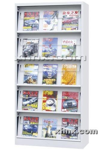 文件柜网提供生产五层期刊架厂家