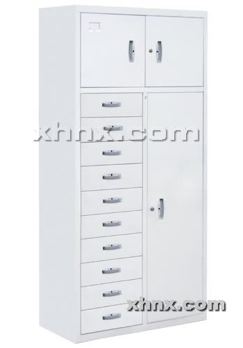 文件柜网提供生产十屉三门柜厂家