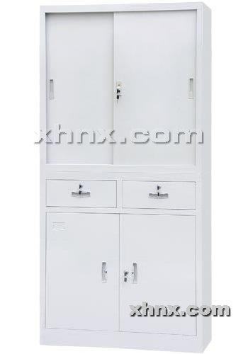 文件柜网提供生产中二屉移门文件柜厂家