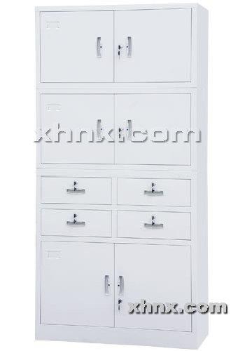 文件柜网提供生产中四屉开门三节柜厂家
