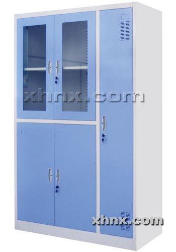 文件柜网提供生产套色平开带更衣柜厂家